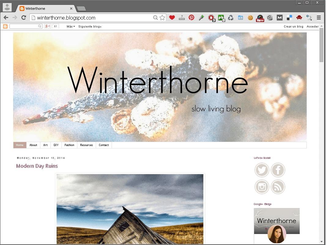 WinterThorne blog