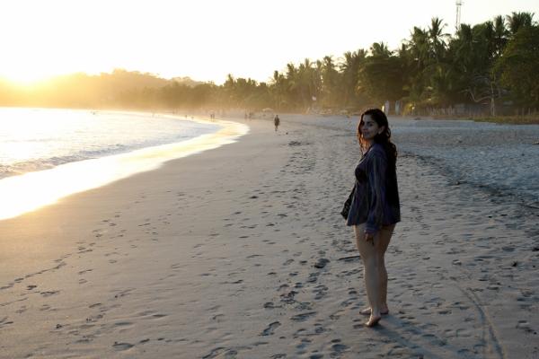 Playa Guiones, Nosara, sunset  | Slow fashion vintage shirt