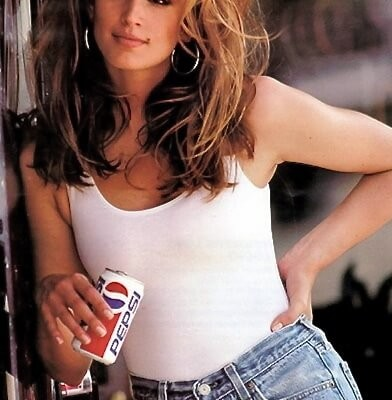 Cindy Crawford in Denim Shorts | PEPSI commertial | 1991 | cindycrawford.com