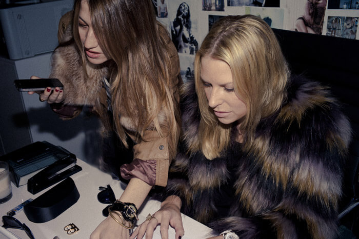 LNA founders Lauren Alexander and April Leight Los Angeles fashion designers