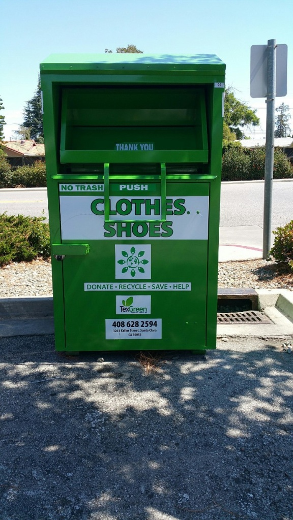 Clothes and shoes recycling bin