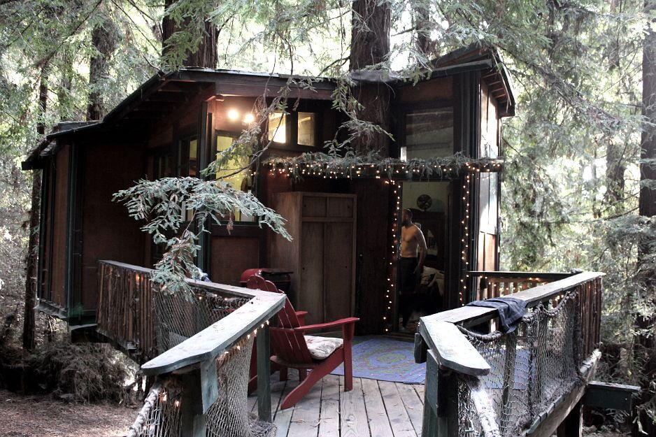 redwood treehouse exterior