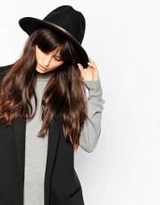 Christys' Safari Wool Felt Wide Brim Fedora Hat ASOS Eco shop