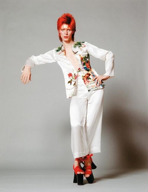 David Bowie platform shoes
