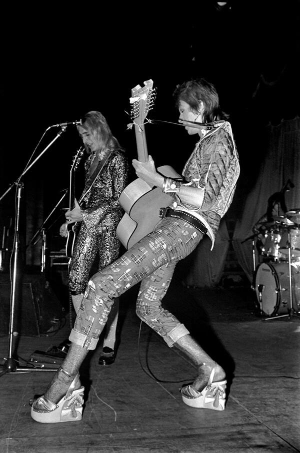 David Bowie wearing wedges