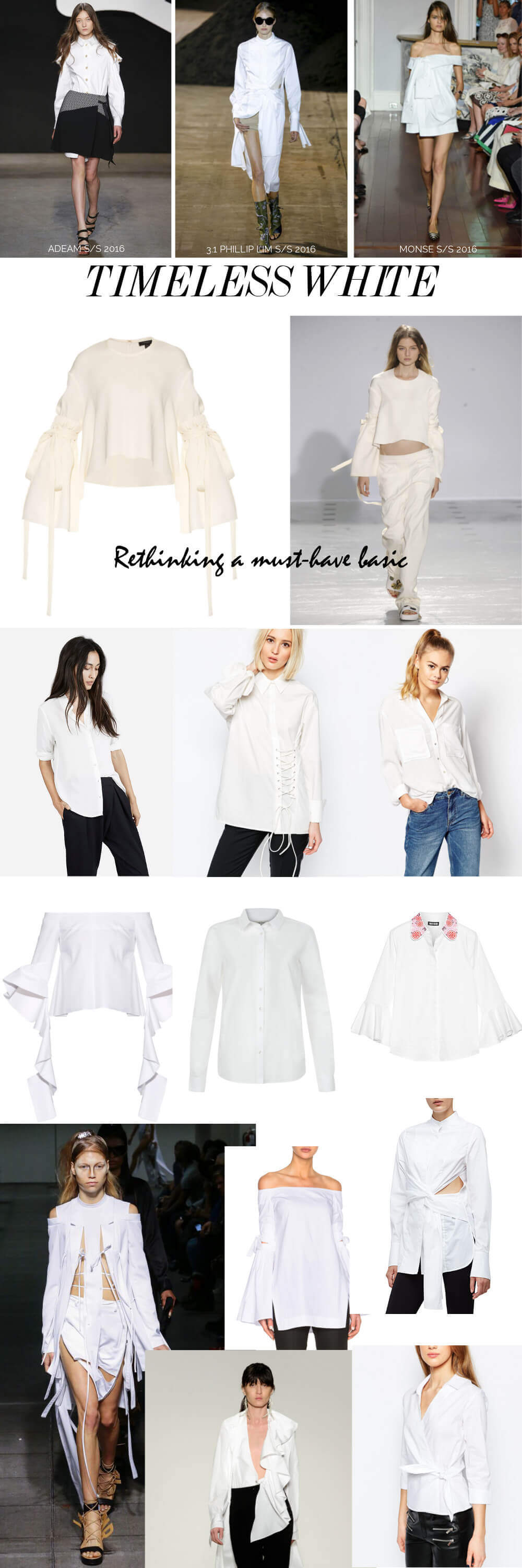 white shirts to inspire | Shop now