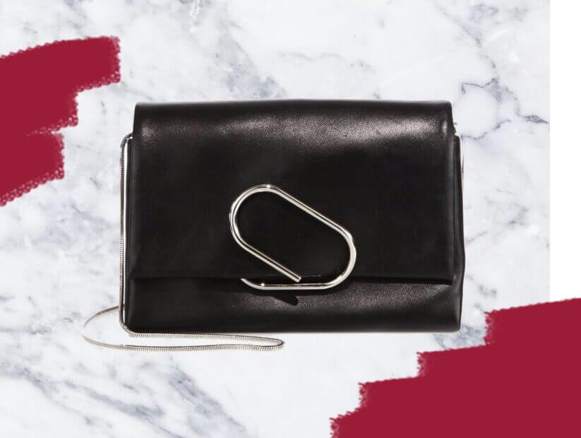 Alix Soft Flap Leather Chain Clutch