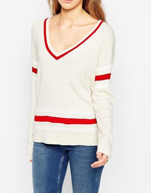 asos tennis inspired sweater