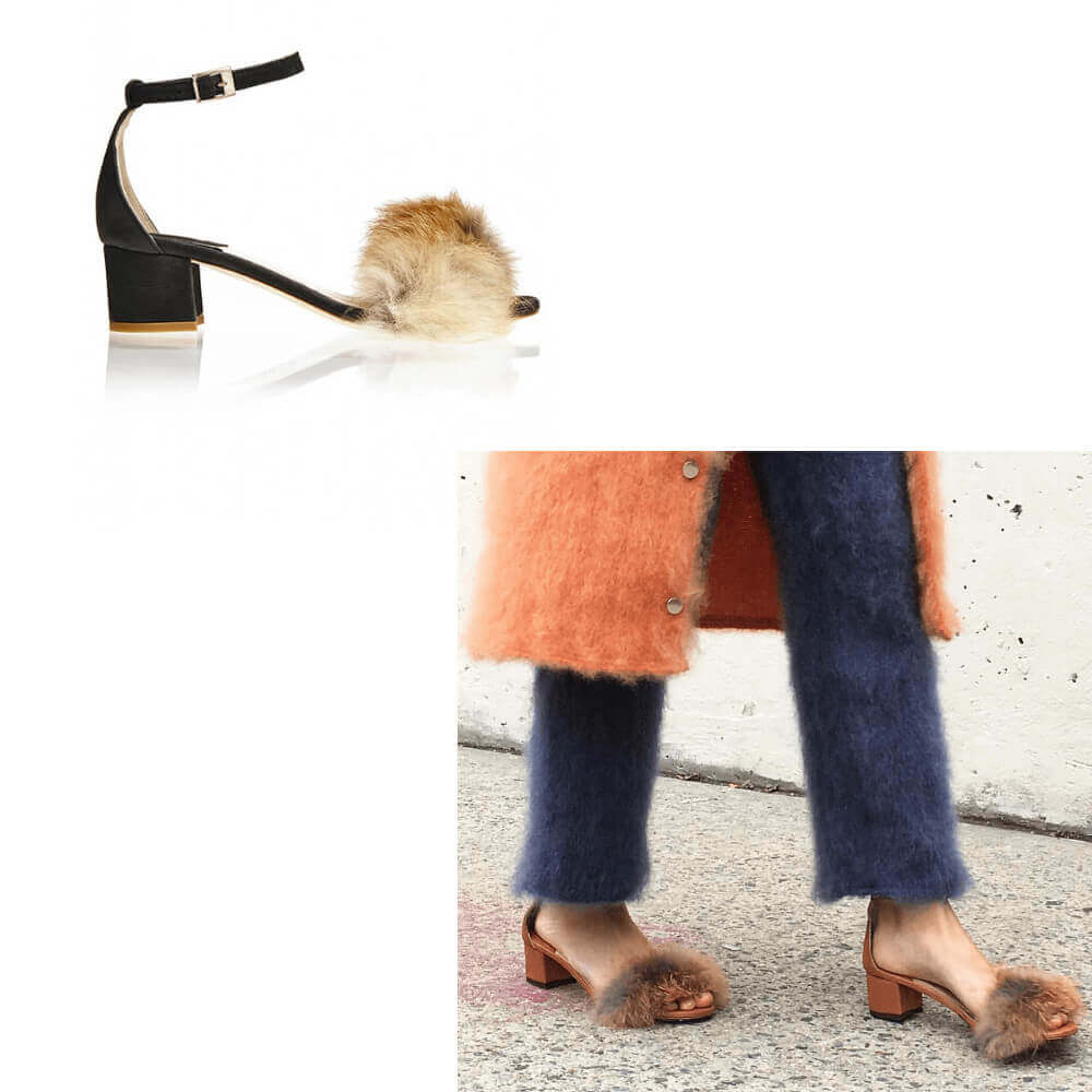 Dhara Fox Fur Sandal