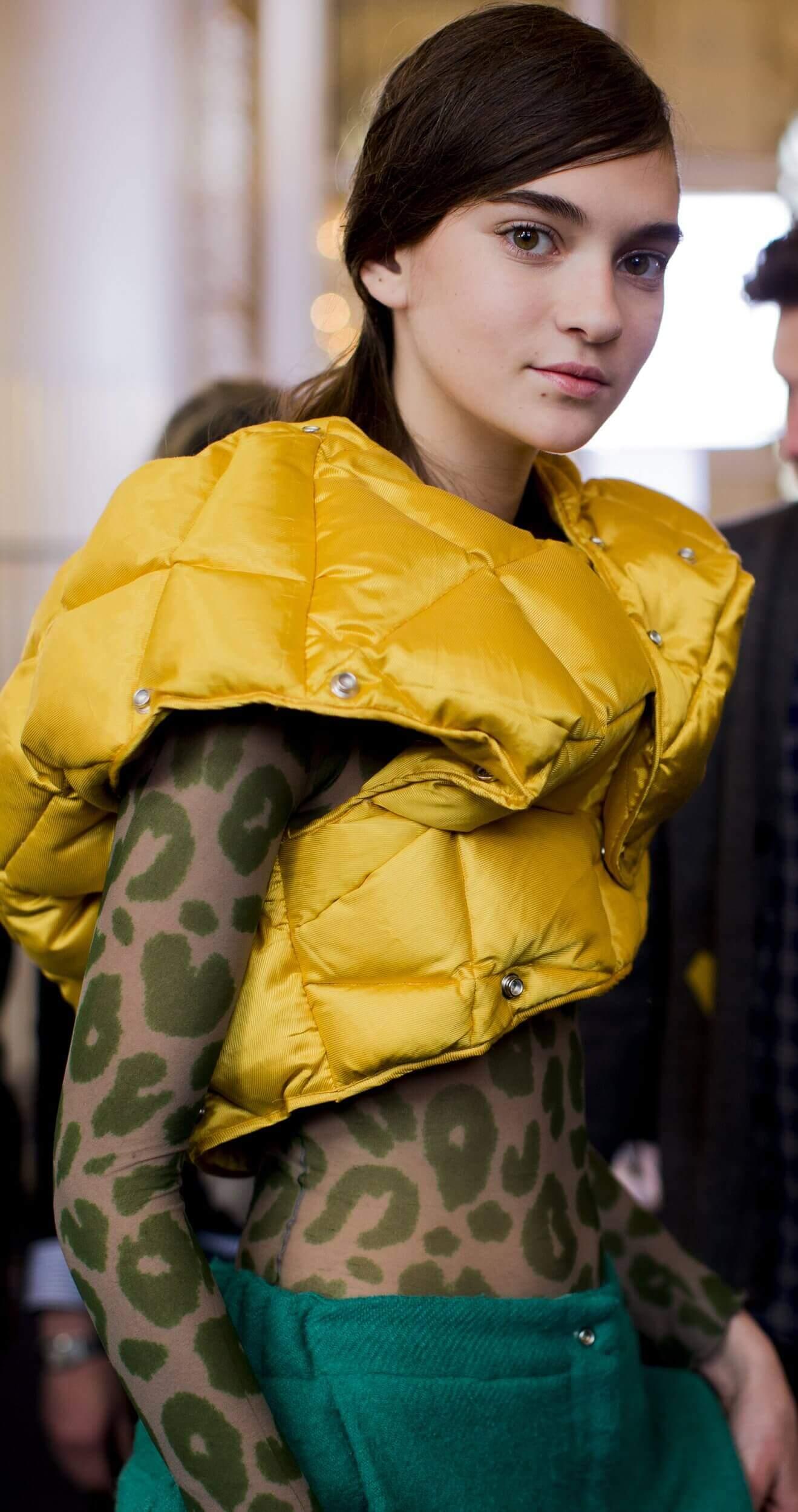 Paris fashion week Vogue photo Mustard color