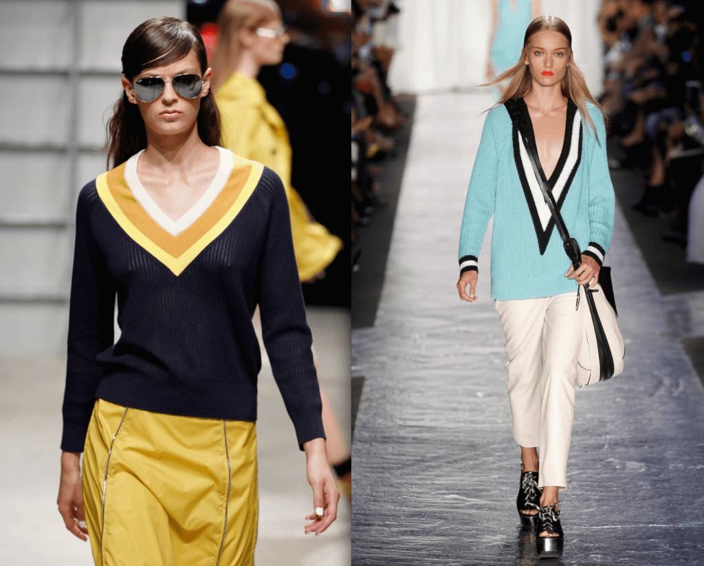 Band of Outsiders and Rag & Bone vintage inspired tennis sweaters