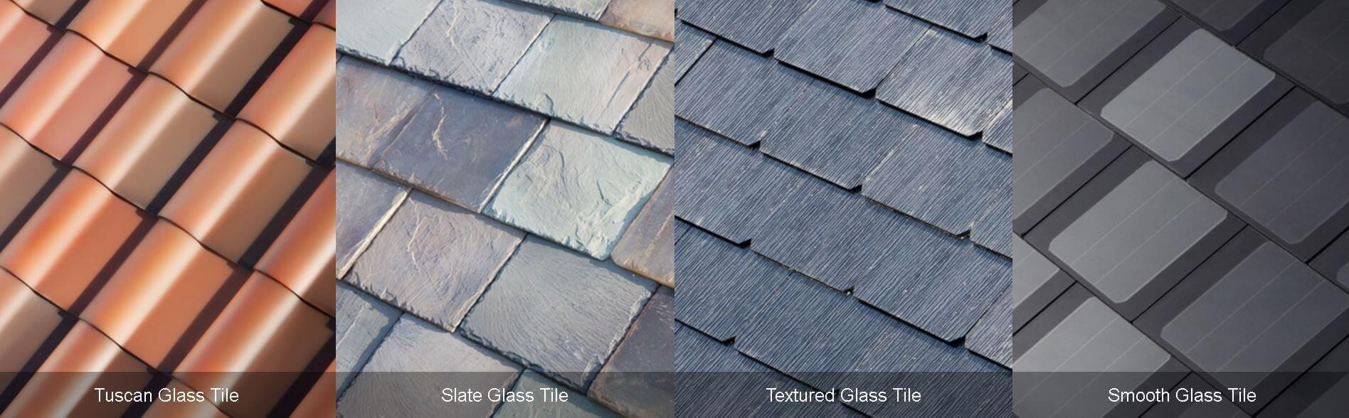 The styles of Tesla glass solar roof you can choose from