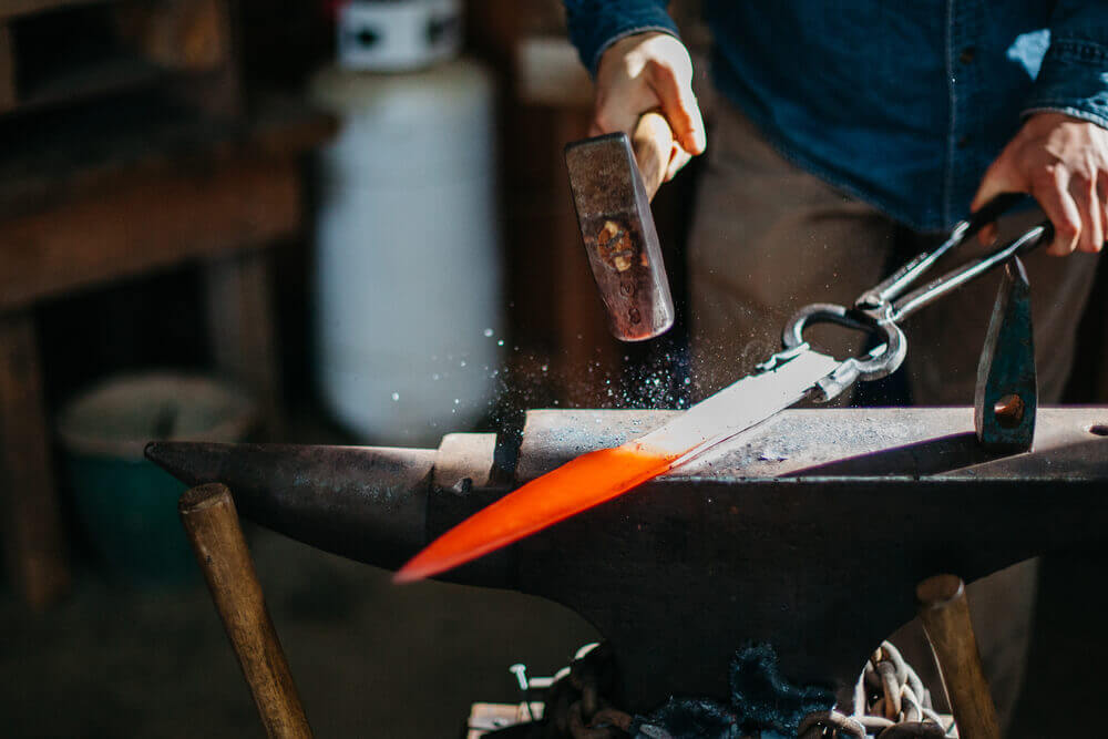 Bloodroot Knives uses wood from their own farm in Georgia