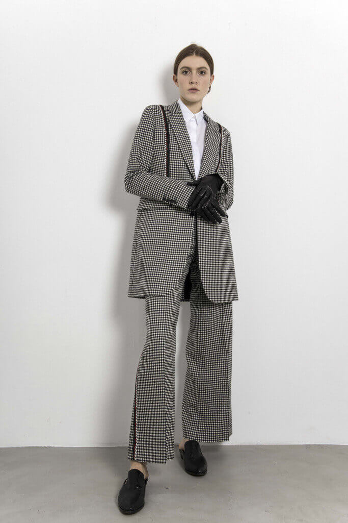 Houndstooth check pattern suit Each x Other Pre Fall 2017