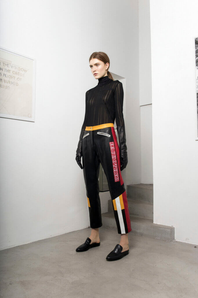 Graphic leather pants Each x Other Pre Fall 2017