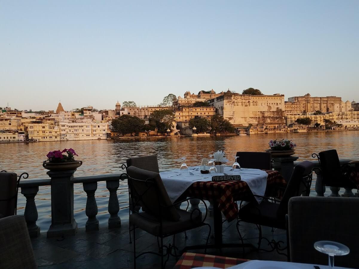 Having dinner at Ambrai