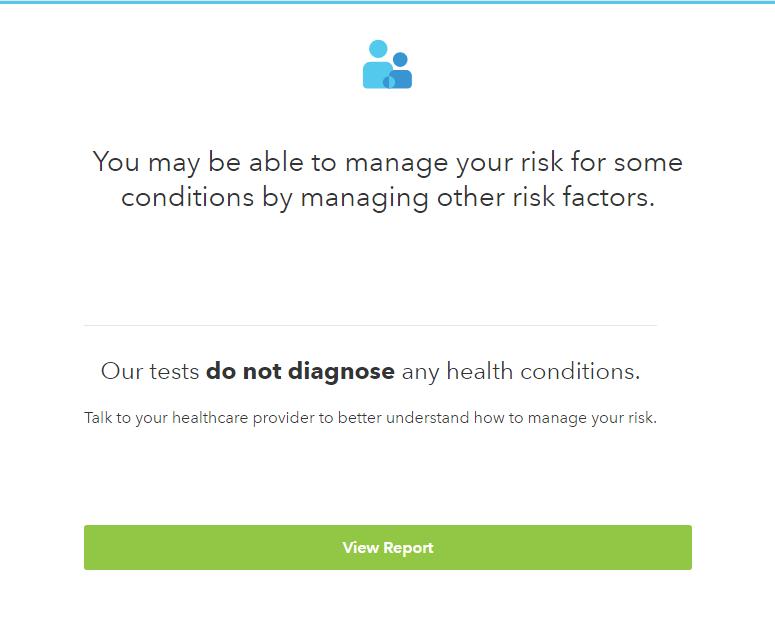 23andme health risks disclaimer