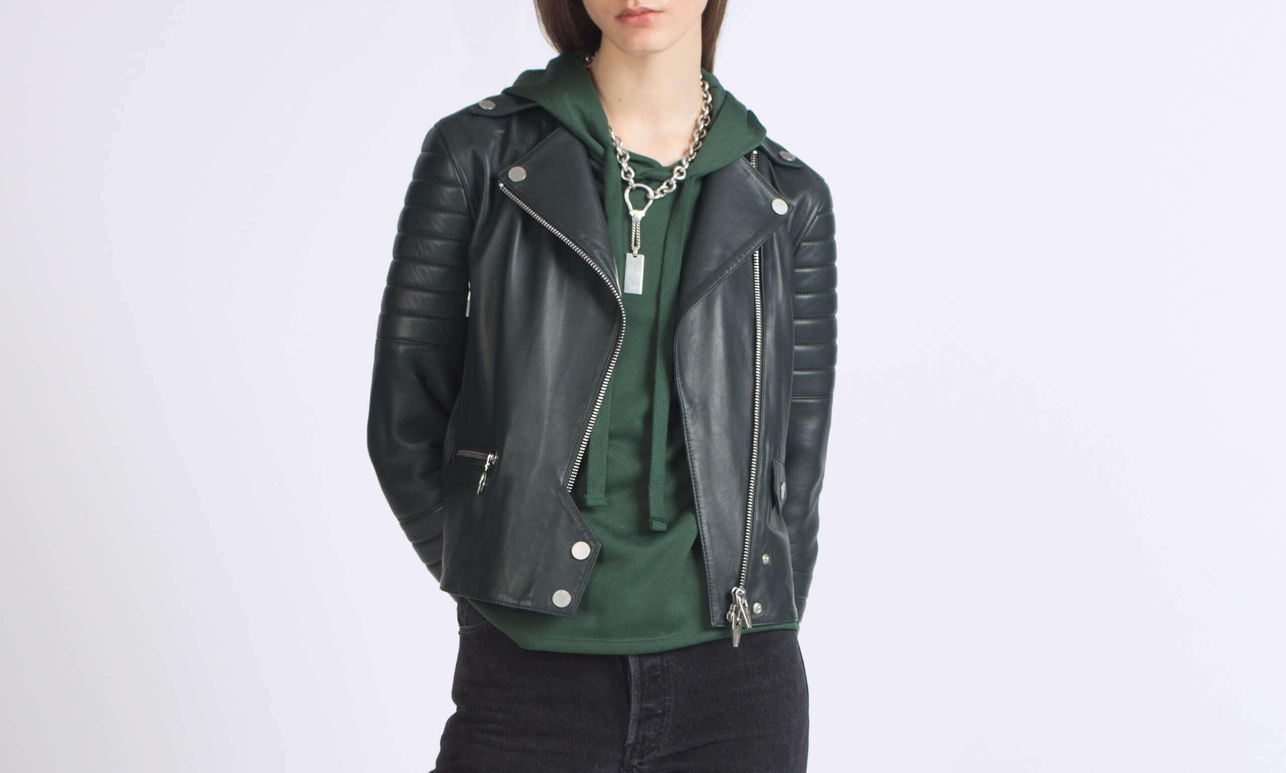 Rainer Zero Moto Jacket in Green