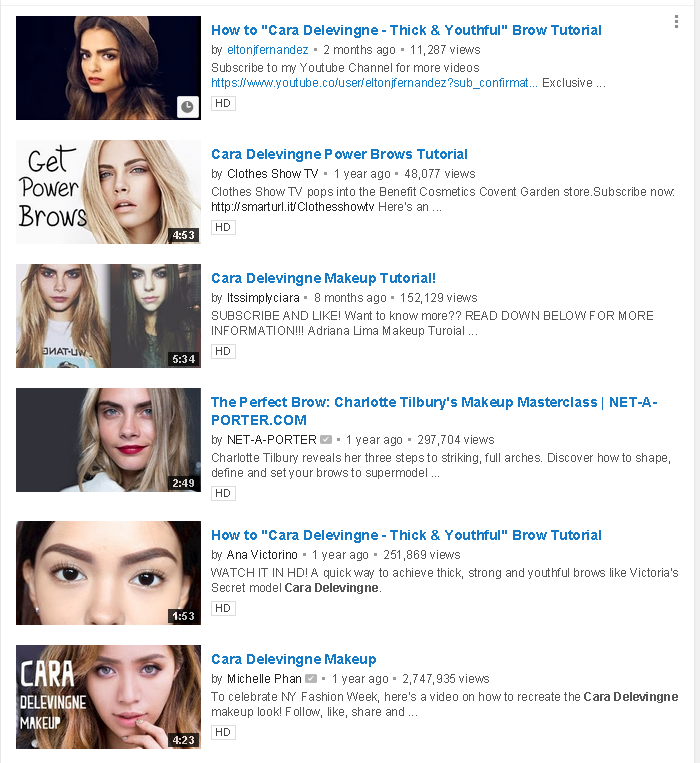 cara delevingne eyebrow tutorials