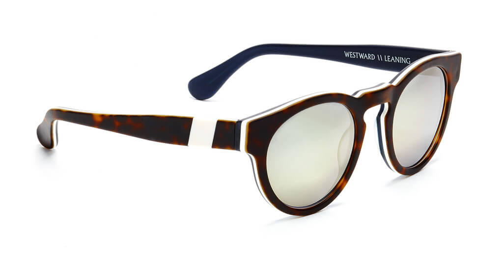Westward leaning Voyager 10 with Layer Tortoise Matte frame,Faux Ivory side inlays and Super Silver lenses