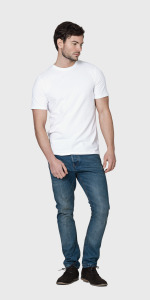 WHITE ORGANIC COTTON MEN'S T-SHIRT   The White T-Shirt Co