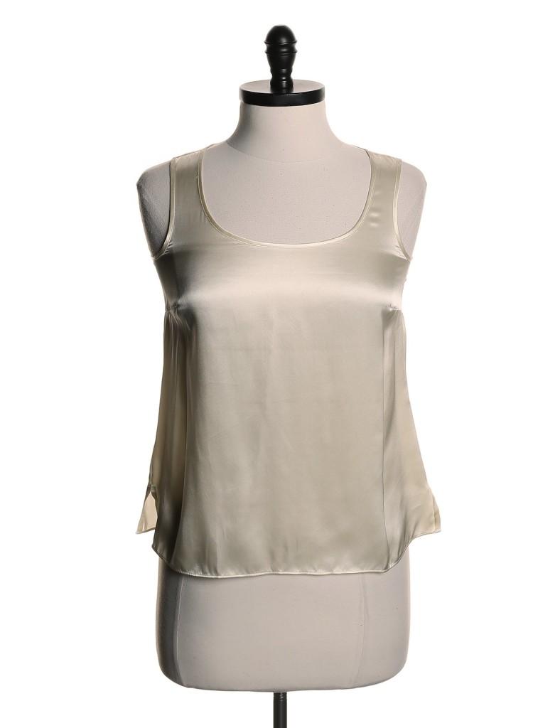 Talbots white silk tank top