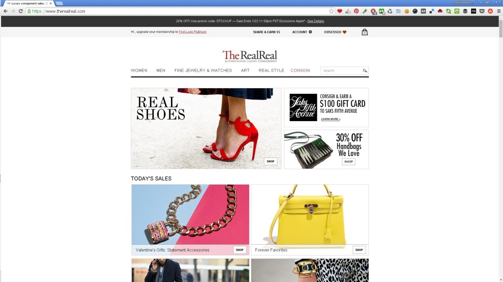 TheRealReal site