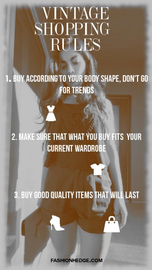 Vintage Shopping Rules | Fashionhedge