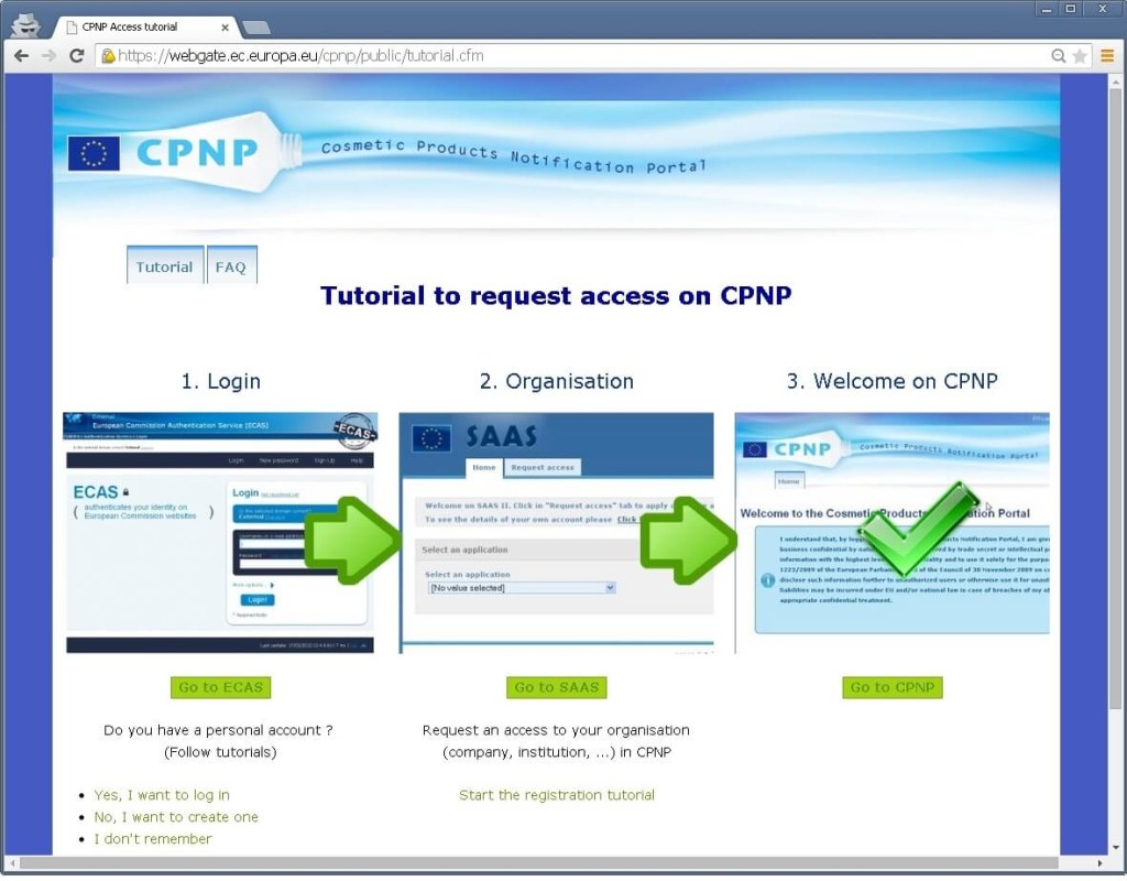 European Commission Cosmetic Product Notification Portal (CPNP)
