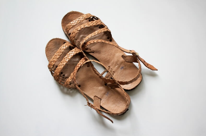 "Filanthropik ""Trenzas"" leather gladiator sandals handmade in Guatemala 