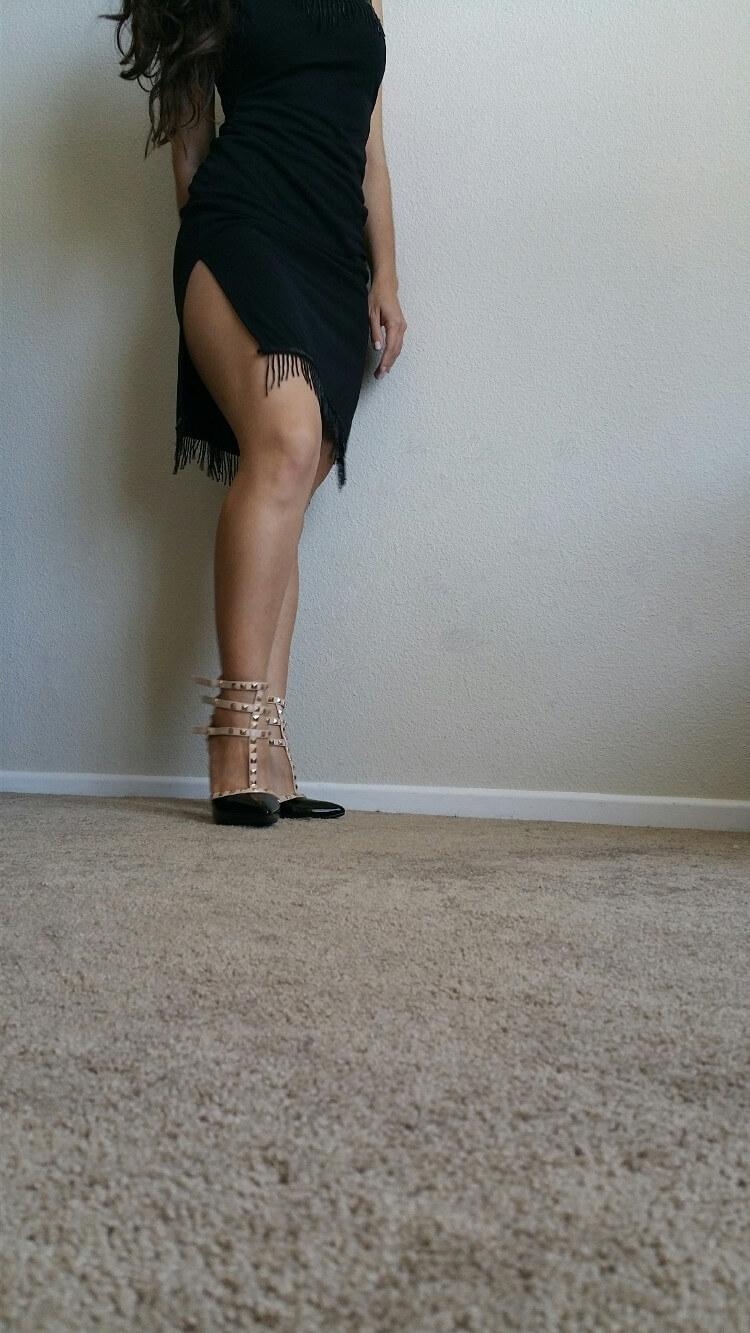 Studded black vegan pumps | Fashionhedge