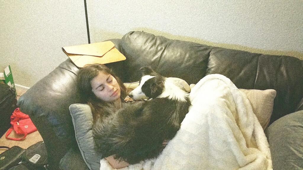 Yari and Mikey sleeping
