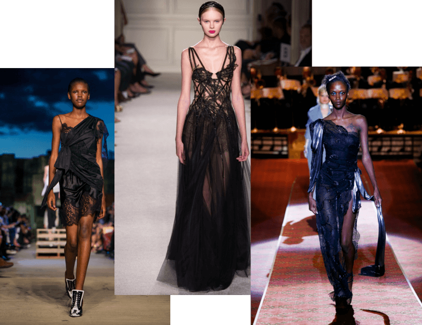 New York Fashion Week 2015 Spring/Summer 2016 Runway Shows Trends black transparencies, lace, tulle