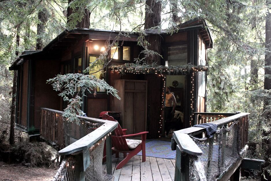 redwood treehouse exterior