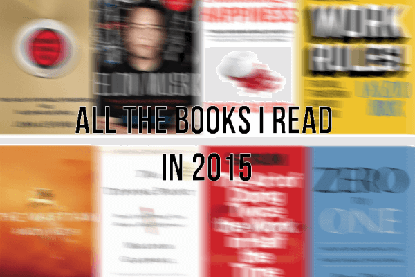 All the books I read in 2015