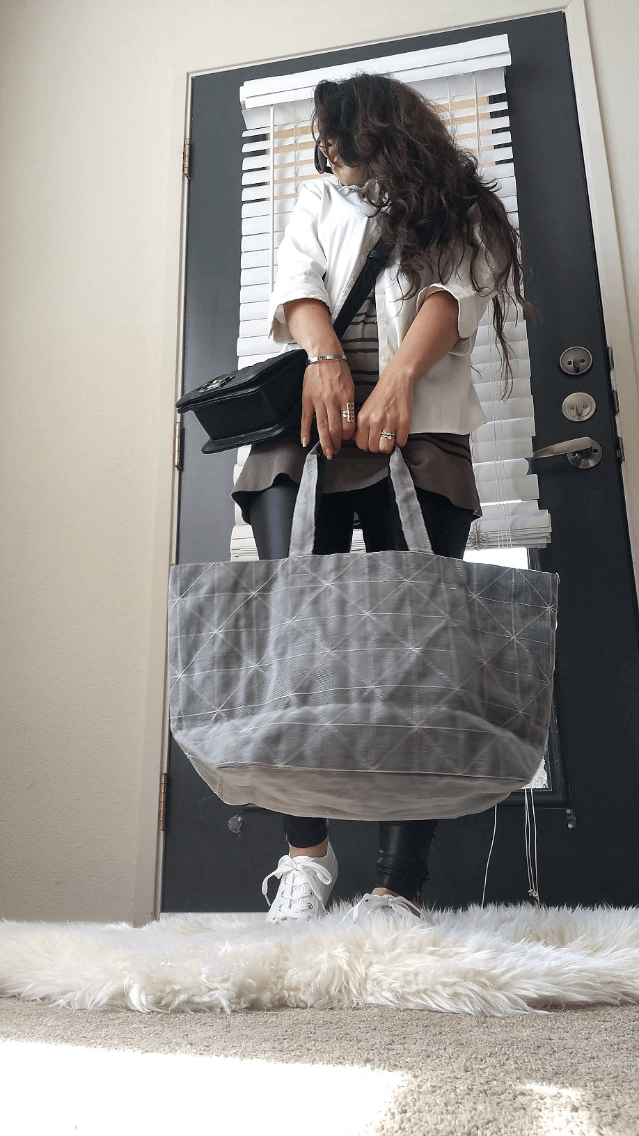 Ethical fashion Net effects traders x fashionhedge tote bag | Social enterprise