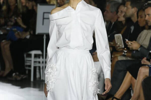 Zac Posen Spring Summer 2016 white shirt