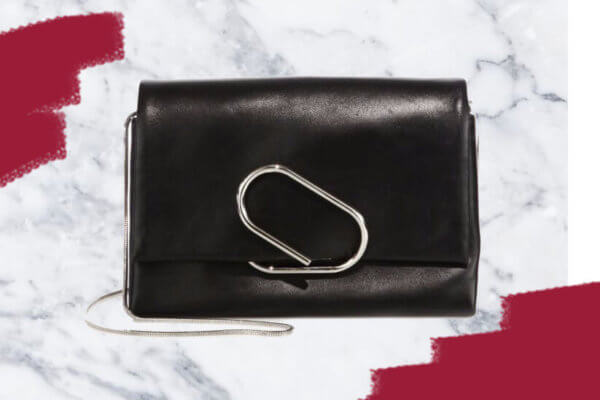 Alix Soft Flap Leather Chain Clutch