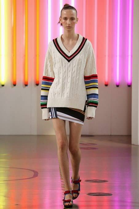 Tennis sweater inspired Preen by Thornton Bregazzi Spring 2015 Ready-to-Wear Collection
