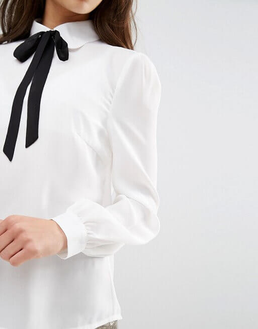 Fashion Union Petite Diana Top With Bow Detail