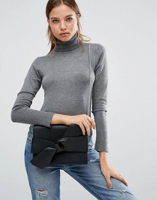Mango Bow Detail X Body Bag