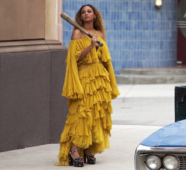Beyonce Hold Up video Mustard dress