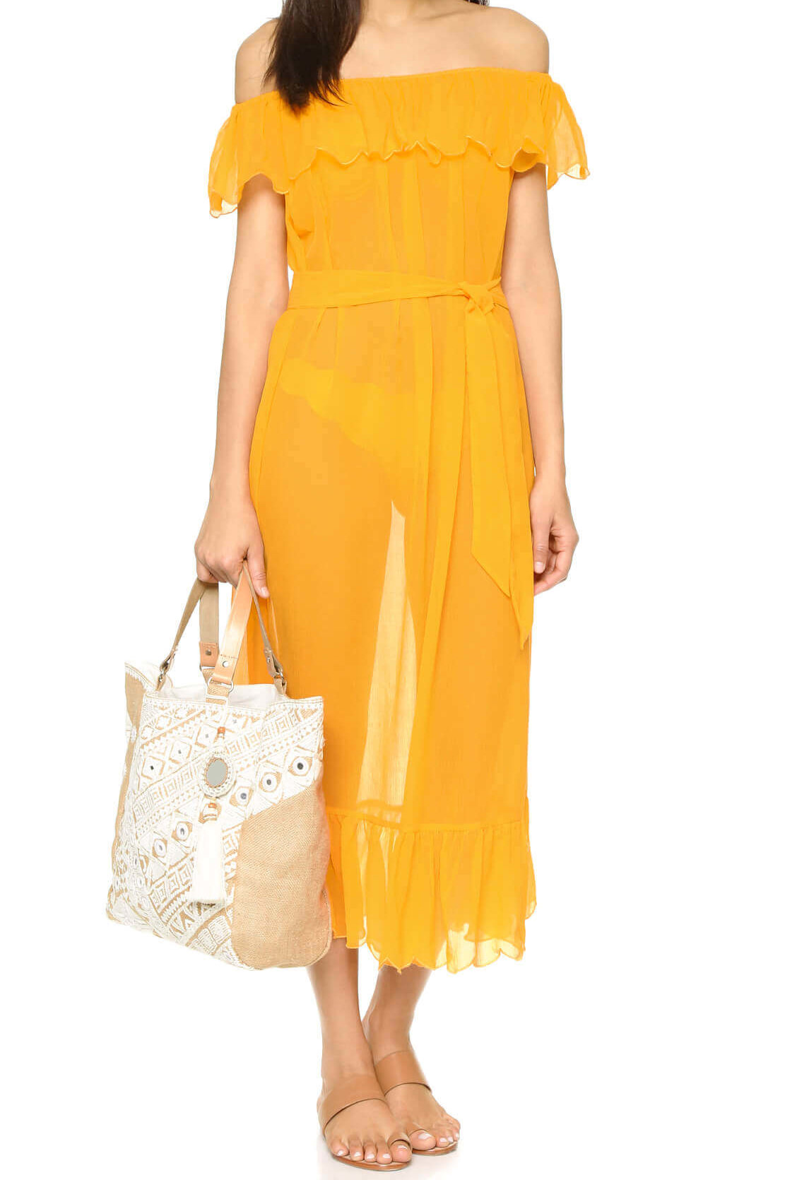 MARYSIA SWIM mustard dress