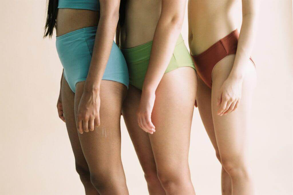 LOV sustainable organic cotton underwear for women promoting a body positive image