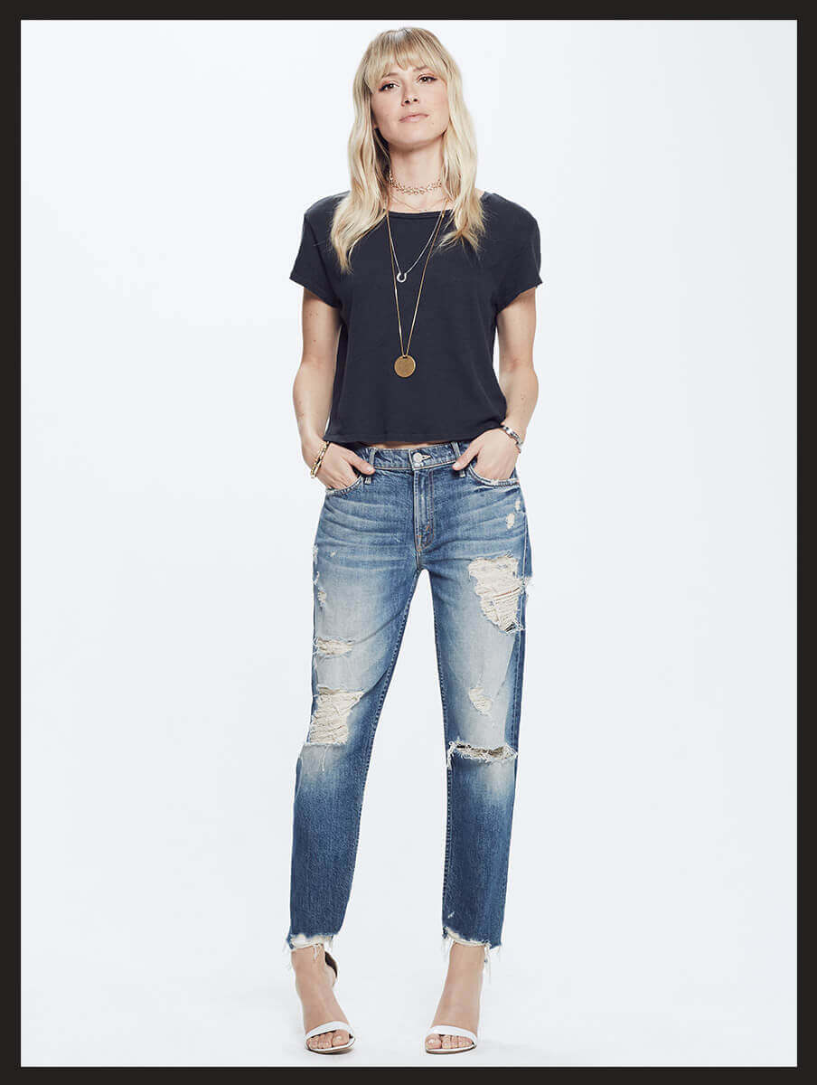 Sinner Mother superior Distressed jeans. The perfect distressed, boyfriend cut jeans