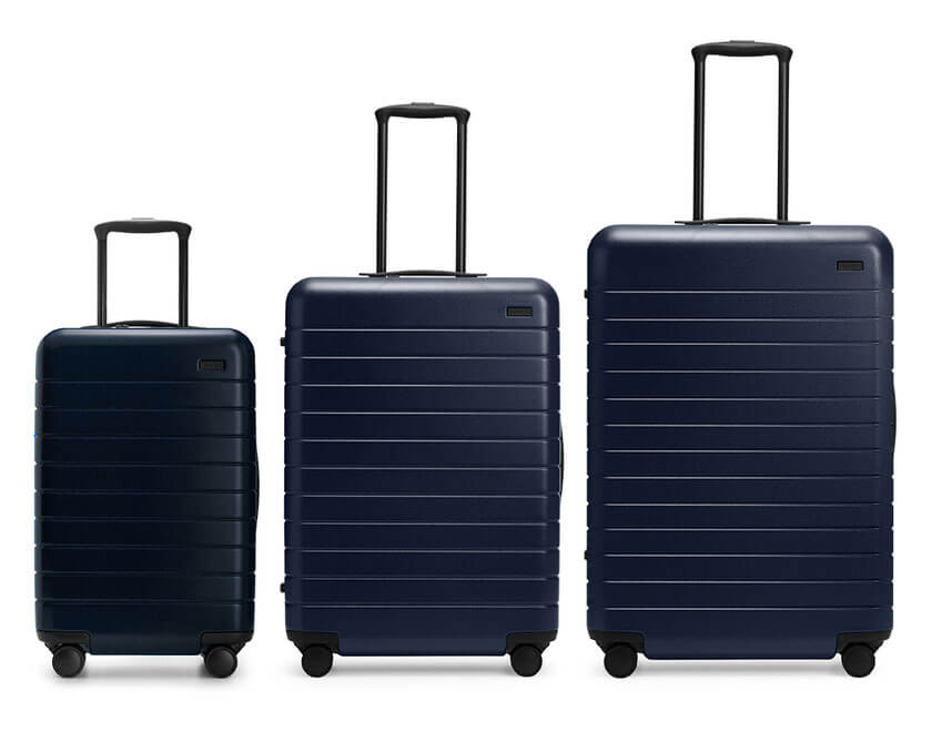 away luggage sizes