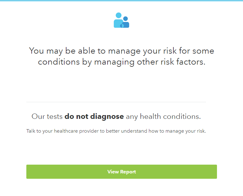 23andme health risks disclaimer
