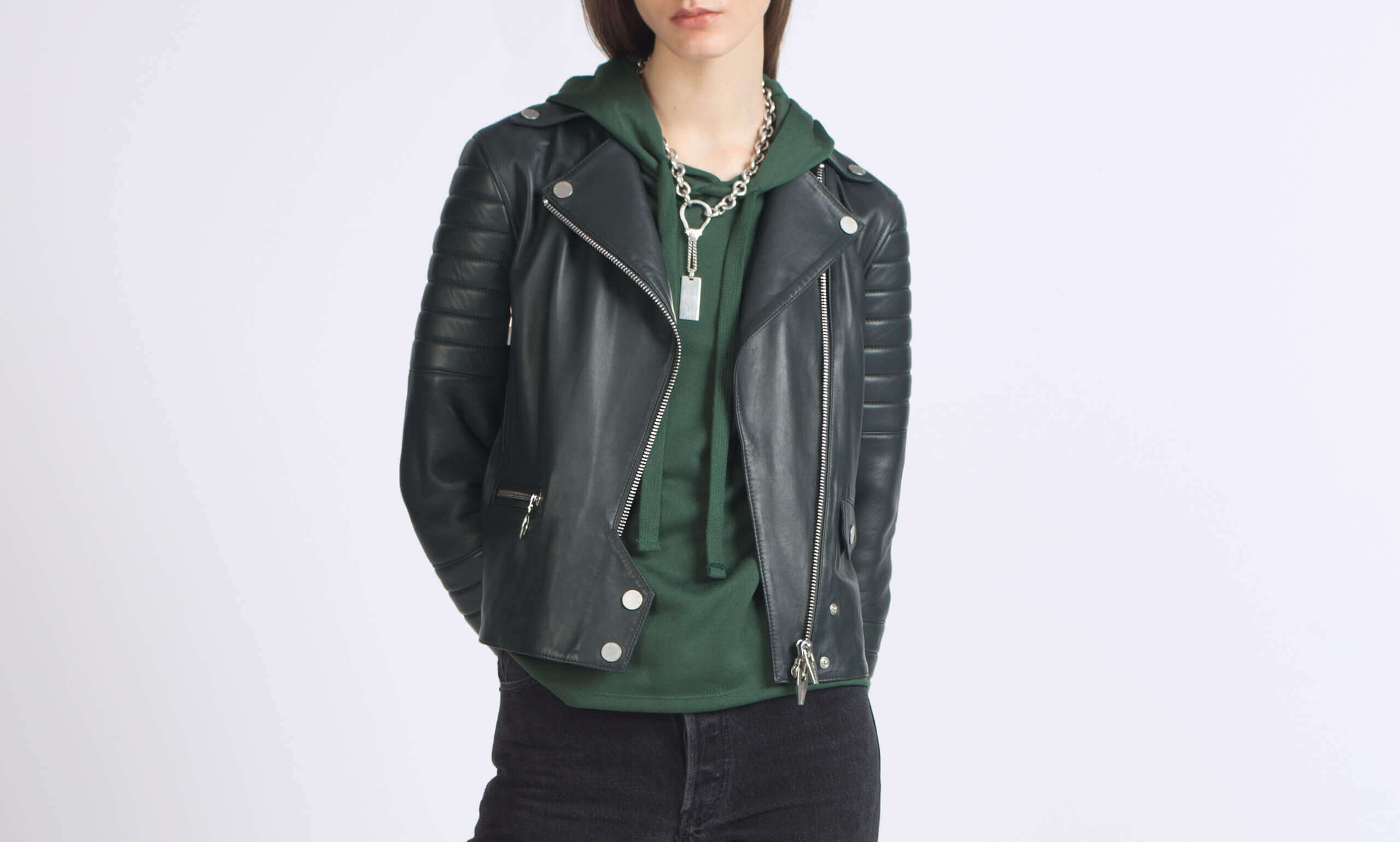 Rainer Zero Moto Jacket in Green