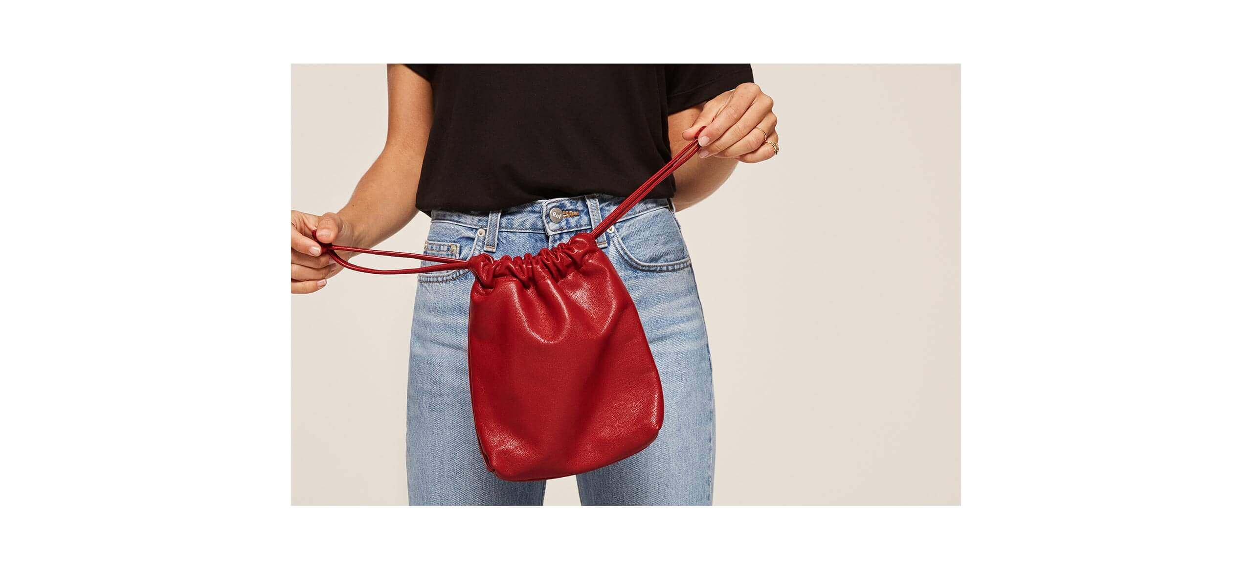 reformation red pouch almost french collection