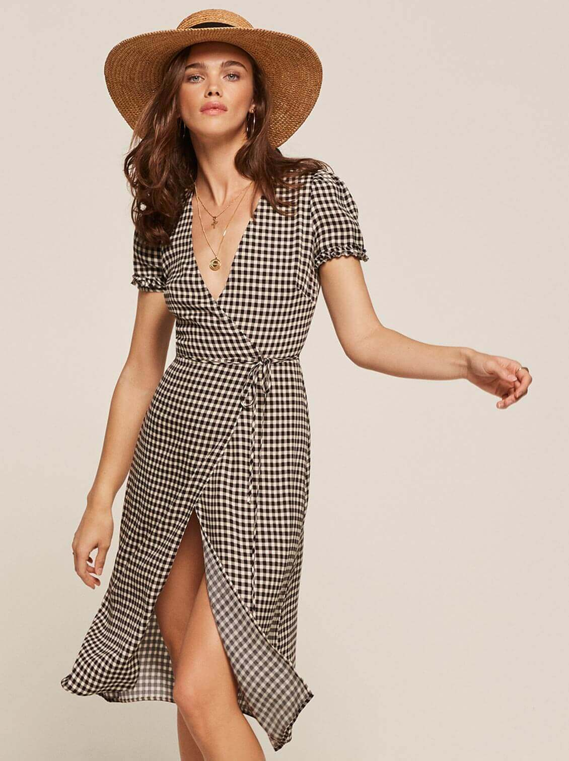 Reformation picnic dress and hat